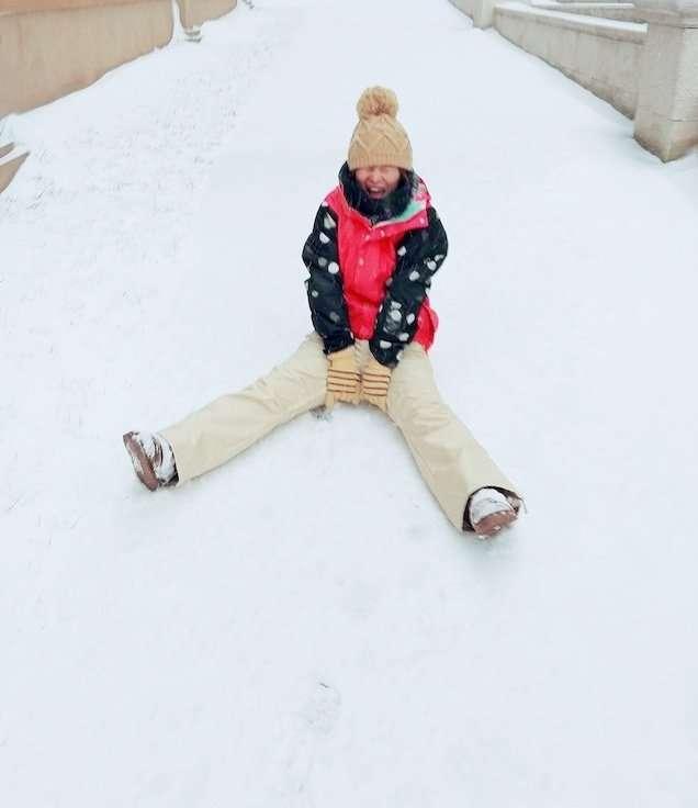 第一次玩雪