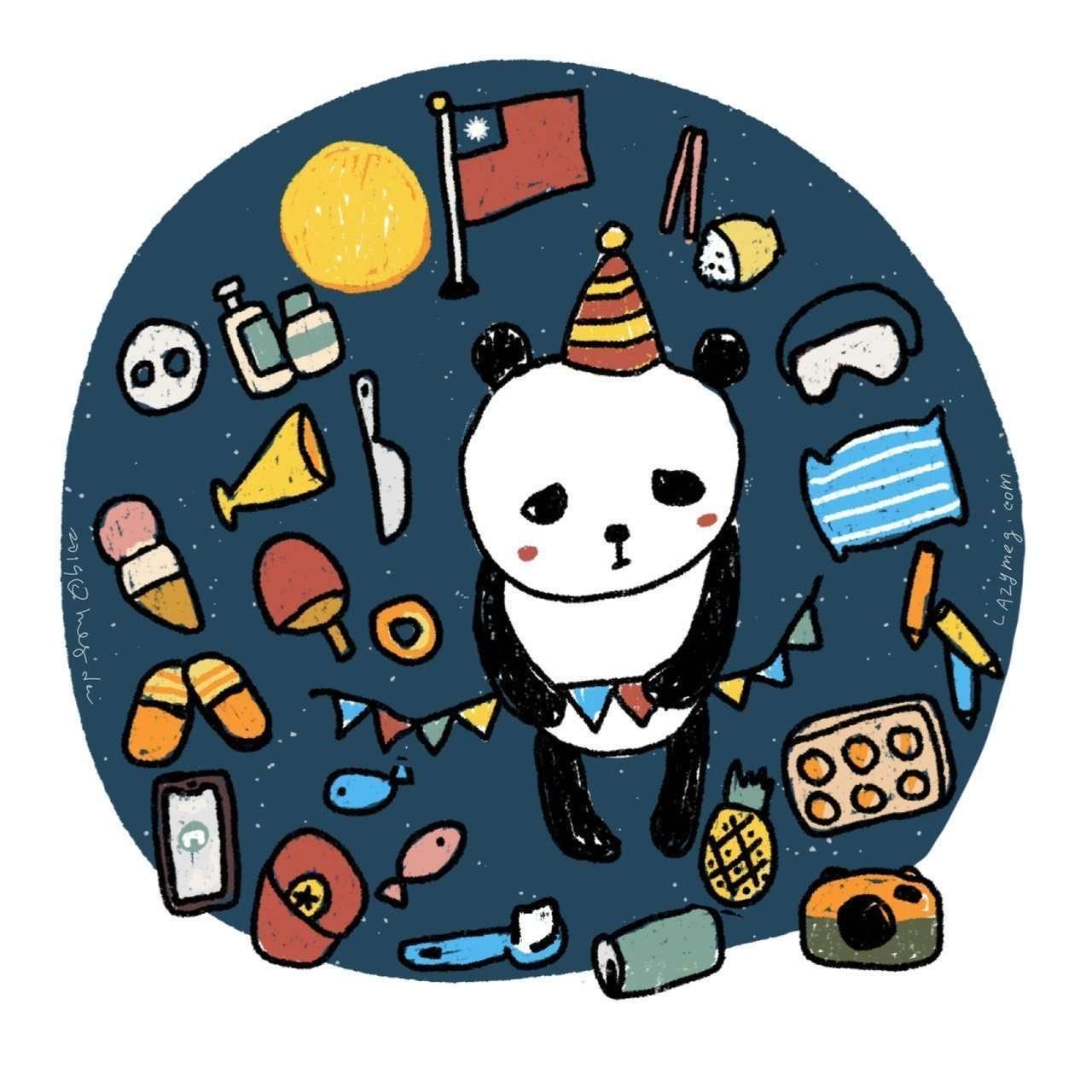 憂鬱的熊貓
