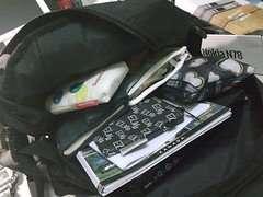 我的行李-厚背包 裡面最重的是NB