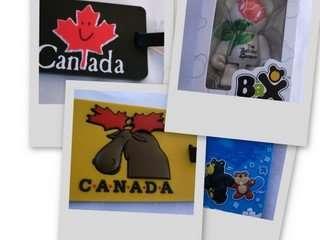 canada行李吊牌&布查花園限量的小熊鑰匙圈