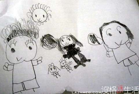 NINA畫-最左邊是他阿罵