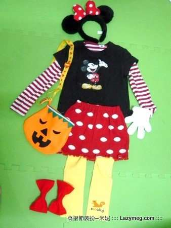 Halloween 萬聖節-沒格的不織布作品 米妮