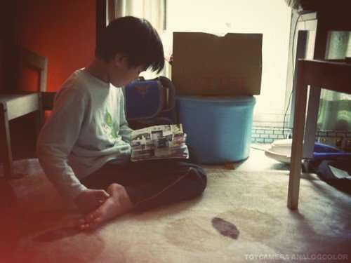 nina拍的哥哥在看書